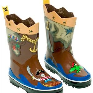 Kidorable Boys Pirate Rain Boots Many Sizes